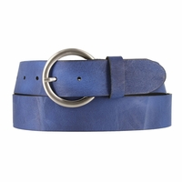 2524/38 Made In Italy Belt 1.5 Inch Wide (Royal Blue)