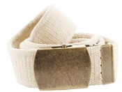 Fabric Web Belt 1.5 inch wide - Beige