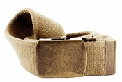 Fabric Web Belt 1.5 inch wide - Khaki