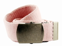 Fabric Web Belt 1.5 inch wide - Light Pink
