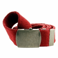 Fabric Web Belt 1.5 inch wide - Red