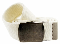 Fabric Web Belt 1.5 inch wide - White
