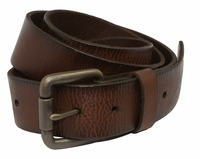 Falcon Vintage Full Grain Leather Brass Roller Buckle Belt-Drk.Brown
