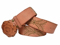 "FG60322 Studded Leather Belt  1 3/4"" Wide ""Sale"" $19.95"