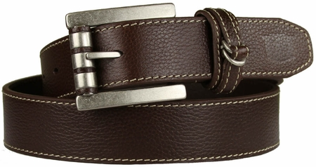 "Florsheim Metal Roller Casual Genuine Leather Jean Belt 1 1/4"" wide 5-1201 Brown"