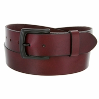 "Francis Burgundy Wine Work Men's Casual Jean Belt 38mm or 1-1/2"" Wide"