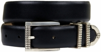 "Francouer Designer Leather Belt 1 1/8"" wide"