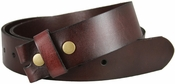 "Full Grain Burgundy Work Belt Strap 1-1/2"" Wide"