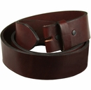 "Full Grain Burgundy Work Belt Strap 1-1/2"" Wide *Made in USA*-Big &Tall"