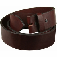 "100% One Piece Full Grain Burgundy Work Belt Strap 1-1/2"" Wide *Made in USA*"