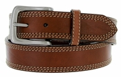 "G Bar D Men's Western Leather Belt 1-1/2"" - Brown"