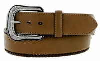 "5712500 G Bar D Men's Western Leather Conchos Belt 1-1/2"" - Brown"