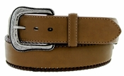 "G Bar D Men's Western Leather Conchos Belt 1-1/2"" - Brown"