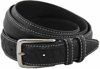 "Genuine American Bison Leather Dress Belt-Black1-1/8"" wide *Made in USA* $49.95"