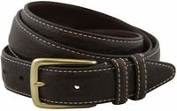 "Genuine American Bison Leather Dress Belt-Dark Brown1-1/8"" wide *Made in USA* $49.95"