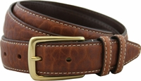 "Genuine American Bison Leather Dress Belt-Tan 1-1/8"" wide *Made in USA* $49.95"