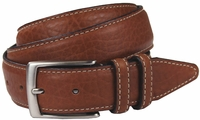 "Genuine Bison Leather Dress Belt-Tan 1-3/8"" wide *Made in USA* $59.95"