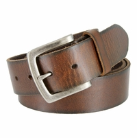"Genuine Full Grain Leather Casual Jean Belt 1-1/2"" Wide"