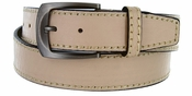 Cable Genuine Leather Beige Golf Belt