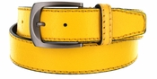 Cable Genuine Leather Yellow Golf Belt