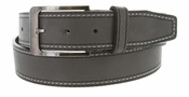 Triple Stitched Genuine Leather Golf Belt Gray