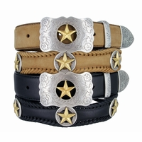 Gold Star Western Conchos and Buckle Belt
