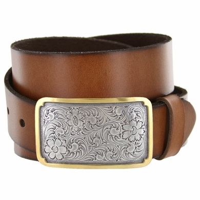 Golden Denver Western Full Grain Leather Casual Belt