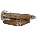 Goldfield Barrel Racer Round Rope Edge Western Concho Leather Belt