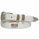 Golf Swinger Italian Leather Golf Swing Medallions Belt