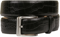 Grove Genuine Italian Leather Dress Belt-Alligator Black $39.95