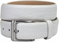 Grove Genuine Italian Leather Dress Belt-Alligator White $39.95
