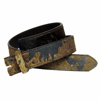 Hair On Leather Belt Straps