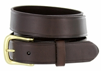 "Heritage Full Leather Dress Work Belt 1-1/4"" Wide - Brown"