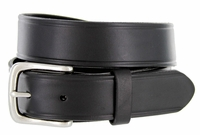 "Heritage Full Leather Dress Work Belt 1-1/4"" Wide - Black"