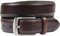 "HJ-10 30mm Italian Oil Tanned Cowhide 1 1/8"" Wide Belt-Dark Brown"