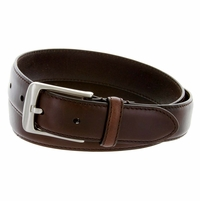 "HJ-10 Italian Oil Tanned Cowhide Belt 1-1/4"" Wide - Brown"