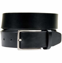 "HJ-2 Italian Oil Tanned Cowhide Leather Belt 1-1/4"" Wide - Black"