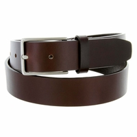 "HJ-2 Italian Oil Tanned Cowhide Leather Belt 1-1/4"" Wide - Brown"