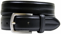 "HJ-20 30mm Italian Oil Tanned Cowhide 1 1/8"" Wide Belt-Black"