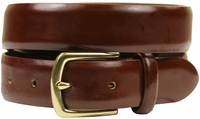"HJ-29 30mm Italian Leather 1 1/8"" Wide Belt-Light Brown $24.95"
