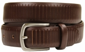 "HJ-3 30mm Italian Oil Tanned Cowhide 1 1/8"" Wide Belt-Chocolate Brown"