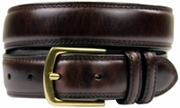 "HJ-9 30mm Italian Oil Tanned Cowhide 1 1/8"" Wide Belt-Dark Brown $24.95"