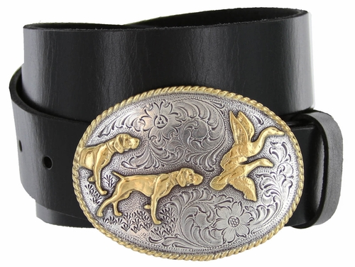 "Hunter Full Grain Italian Leather Casual Jean Belt 1-1/2"" wide"