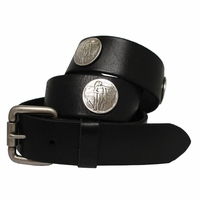 Indian Coin Concho Western Full Grain Leather Biker Belt