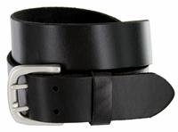 Indiana Twin Hole Black Full Grain Leather Belt