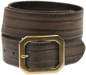 Jackson Full Grain Genuine Leather Jean Belt-Brown $14.50
