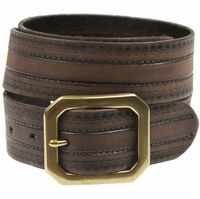 Jackson Full Grain Genuine Leather Jean Belt-Brown