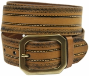Jackson Full Grain Genuine Leather Jean Belt-Tan $27.50