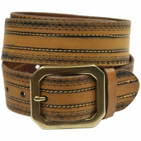 Jackson Full Grain Genuine Leather Jean Belt-Tan