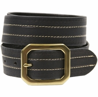Jackson Genuine Full Grain Leather Jean Belt-Black